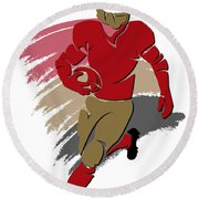 49ers Shadow Player2 Round Beach Towel