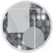 49th Shade Of Gray Round Beach Towel