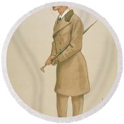 4th Earl Of Dunhaven, Amd Mount-earl Round Beach Towel