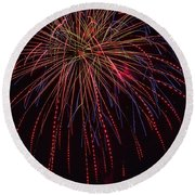 4th July #12 Round Beach Towel