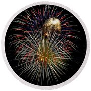 4th Of July 1 Round Beach Towel by Marilyn Hunt