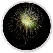 4th Of July 2 Round Beach Towel