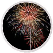 4th Of July 3 Round Beach Towel by Marilyn Hunt