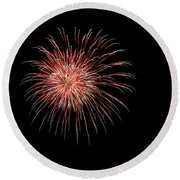 4th Of July 4 Round Beach Towel