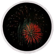 4th Of July 5 Round Beach Towel
