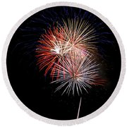 4th Of July 7 Round Beach Towel