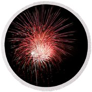 4th Of July 8 Round Beach Towel