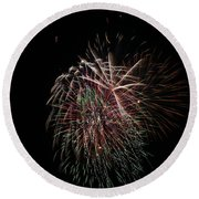 4th Of July Fireworks Round Beach Towel