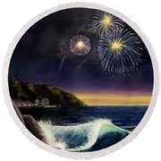 4th On The Shore Round Beach Towel