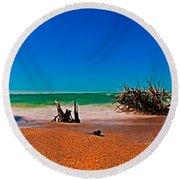 4x1 Florida Beach Panorama 732 Round Beach Towel