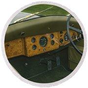 1937 47 Rolls Royce Round Beach Towel