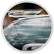 1940 Chevrolet Hood Ornament Round Beach Towel