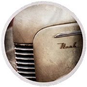 1940 Nash Sedan Grille Round Beach Towel