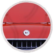 1957 Chevrolet Corvette Grille Round Beach Towel
