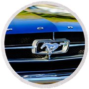 1965 Shelby Prototype Ford Mustang Grille Emblem Round Beach Towel