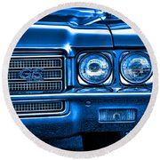 1971 Buick Gs Round Beach Towel