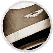 1993 Aston Martin Dbr2 Recreation Hood Emblem Round Beach Towel