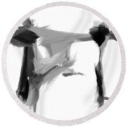 Abstract Series I Round Beach Towel