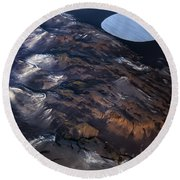 Aerial Photography Round Beach Towel