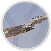 An F-15i Raam Of The Israeli Air Force Round Beach Towel