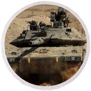 An Israel Defense Force Merkava Mark Iv Round Beach Towel