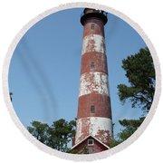 Assateague Lighthouse  Round Beach Towel