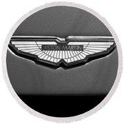 Aston Martin Emblem Round Beach Towel