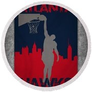Atlanta Hawks Round Beach Towel
