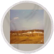 Barns Round Beach Towel
