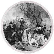 Battle Of Princeton, 1777 Round Beach Towel