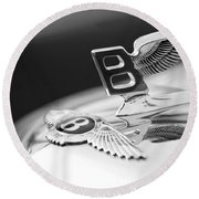 Bentley Hood Ornament Round Beach Towel