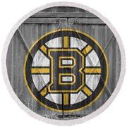 Boston Bruins Round Beach Towel