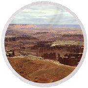 Canyonlands National Park In Utah Round Beach Towel