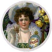 5 Cent Coca Cola - 1890 Round Beach Towel
