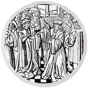 Charles Martel (c688-741) Round Beach Towel
