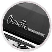 Chevrolet Chevelle Ss Taillight Emblem Round Beach Towel