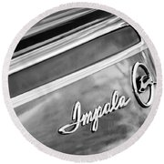 Chevrolet Impala Emblem Round Beach Towel