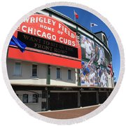 Chicago Cubs - Wrigley Field Round Beach Towel by Frank Romeo