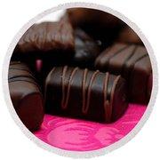 Chocolate Candies Round Beach Towel