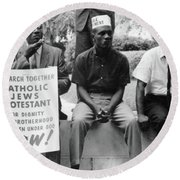 Civil Rights March, 1965 Round Beach Towel