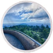 Clingmans Dome - Great Smoky Mountains National Park Round Beach Towel