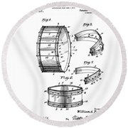 Collapsible Drum Patent 008 Round Beach Towel