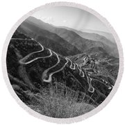 Curvy Roads Silk Trading Route Between China And India Round Beach Towel