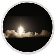 Delta II Rocket Launch Round Beach Towel