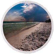 Destin Florida Beach Scenes Round Beach Towel
