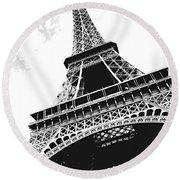 Eiffel Tower Round Beach Towel
