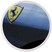 Ferrari Emblem Round Beach Towel