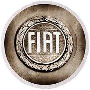 Fiat Emblem Round Beach Towel