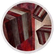 5 Fire Cubed Round Beach Towel