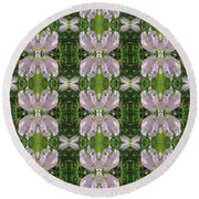 Flowers From Cherryhill Nj America Silken Sparkle Purple Tone Graphically Enhanced Innovative Patter Round Beach Towel